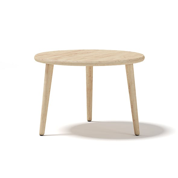 Round Wooden Coffee Table - 3DOcean Item for Sale