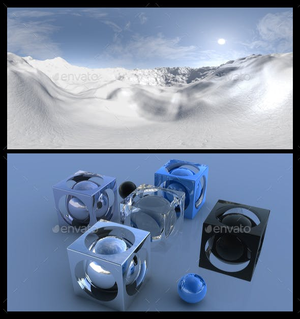 Snow 3 - HDRI - 3DOcean Item for Sale