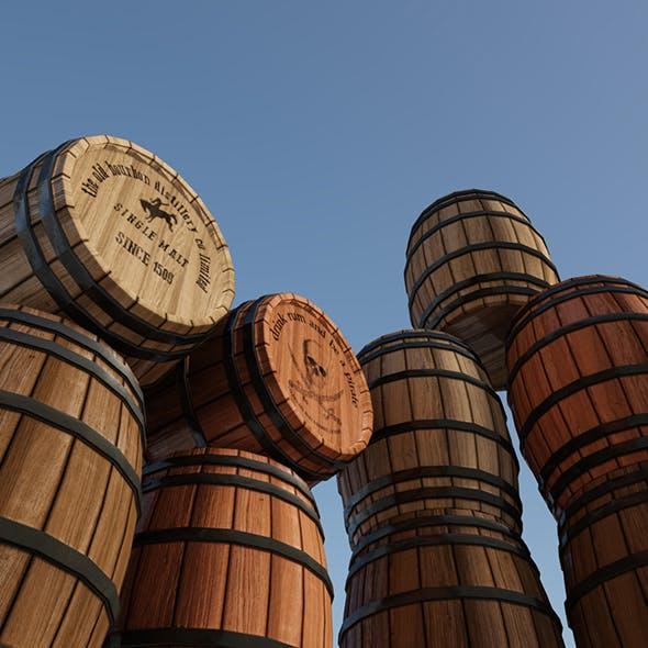 Wooden Barrel - 3DOcean Item for Sale