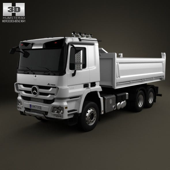 Mercedes-Benz Actros Tipper 3-axis 2011 - 3DOcean Item for Sale