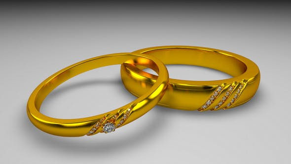 Wedding Rings - 3DOcean Item for Sale