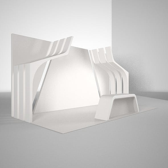 simple booth design - 3DOcean Item for Sale
