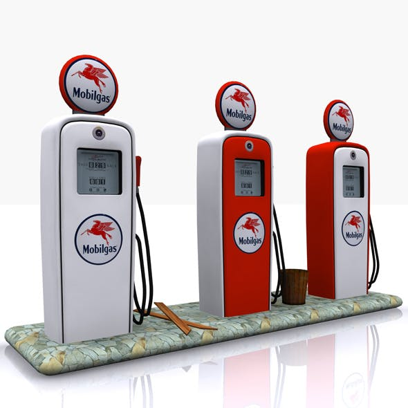 Gas Pump Mobilgas