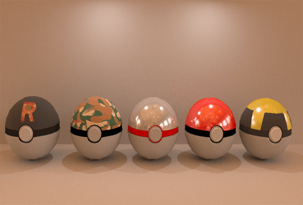 Pokeball - 3DOcean Item for Sale