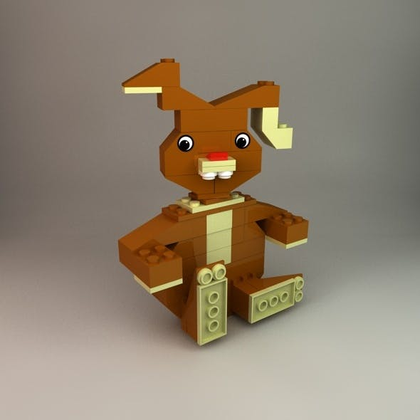 Lego Easter Bunny - 3DOcean Item for Sale