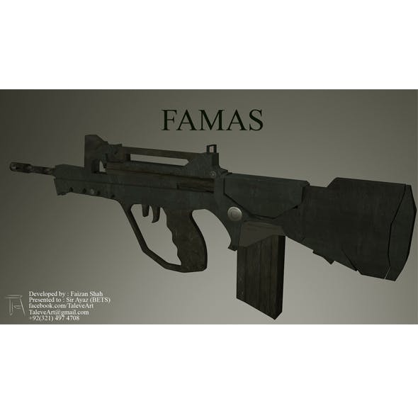 FAMAS Armor - 3DOcean Item for Sale