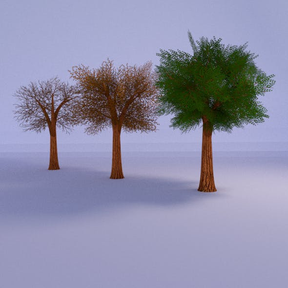 Lowpoly Tree 3 Seasons