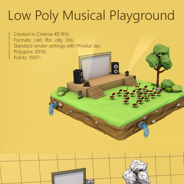 Low Poly Musical Playground