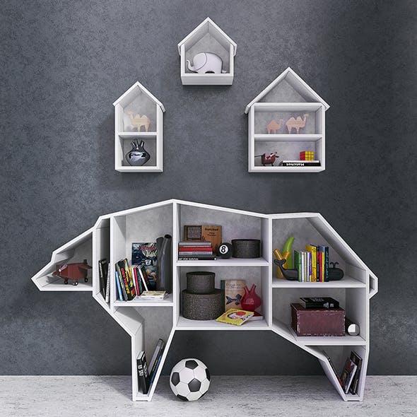 Bear Bookshelf - 3DOcean Item for Sale