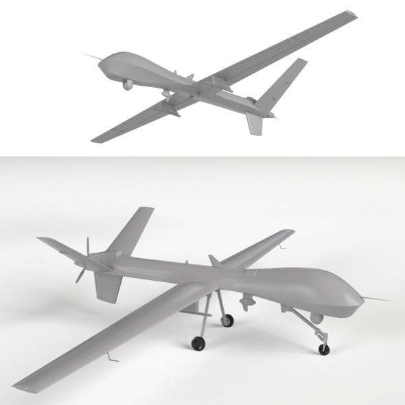 MQ-9 Reaper UAV Drone (two models: gear up/down)