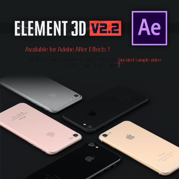 iPhone 7 3DElement - 5 Colours