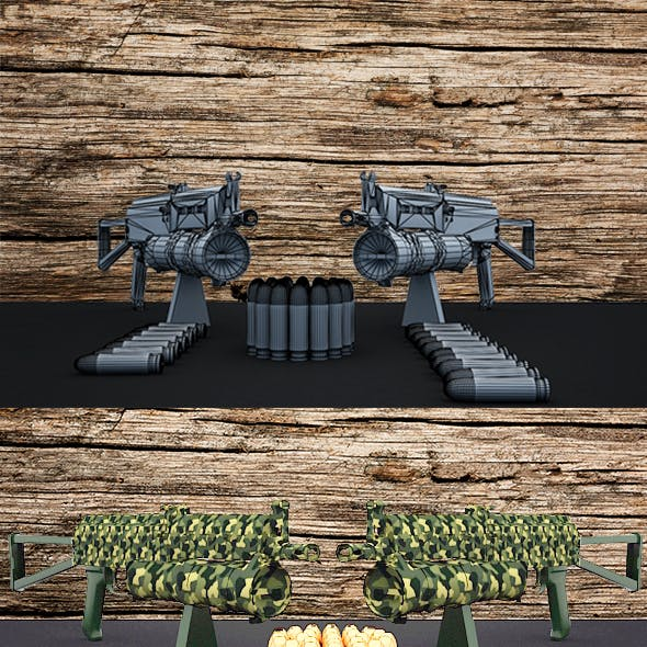 Automatic light weight machine gun