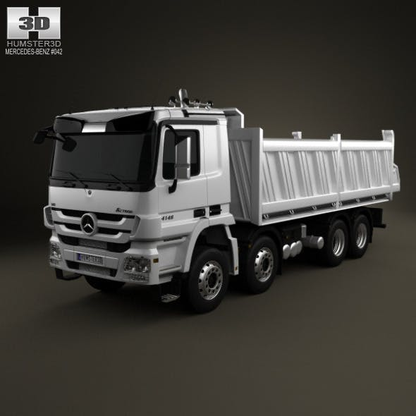 Mercedes-Benz Actros Tipper 4-axis 2011 - 3DOcean Item for Sale