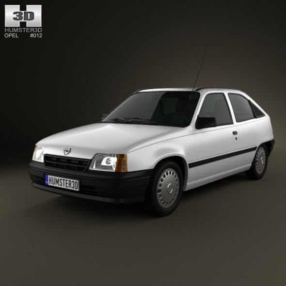 Opel Kadett E Hatchback 3-door 1984-1991 - 3DOcean Item for Sale