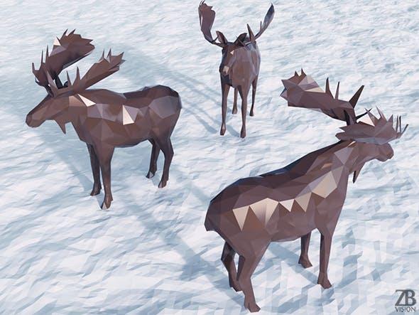 Lowpoly Moose - 3DOcean Item for Sale