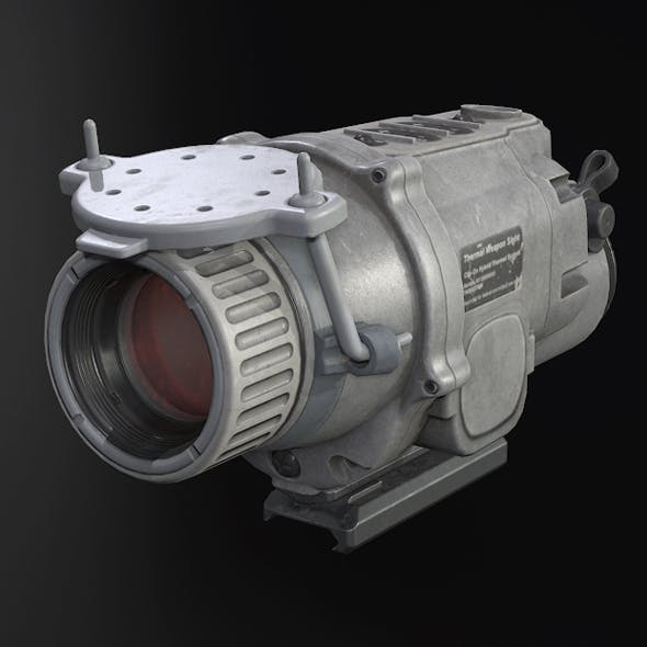 Gray Weapon Thermal Sight