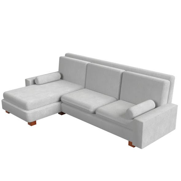 L-shaped couch sofa - 3DOcean Item for Sale