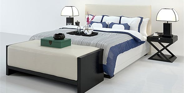 Neoclassical bed - 3DOcean Item for Sale