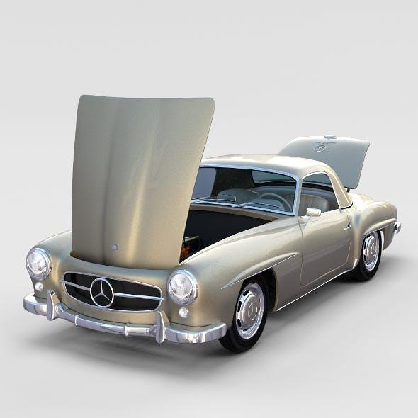 Full w interior Mercedes 190SL Hard Top rev