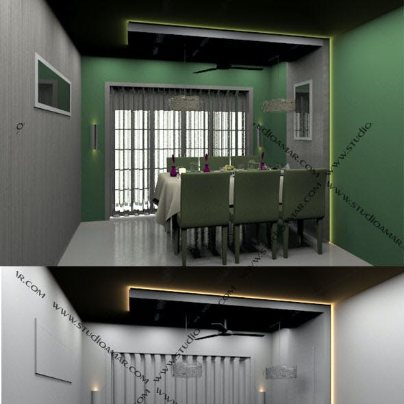 Realistic Dining hall  178