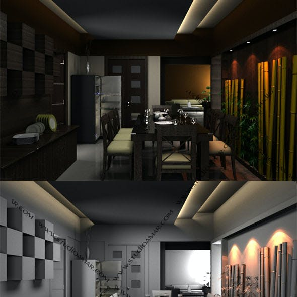 Realistic Dining room 179