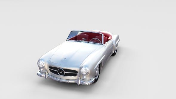 Mercedes 190SL with Interior rev - 3DOcean Item for Sale