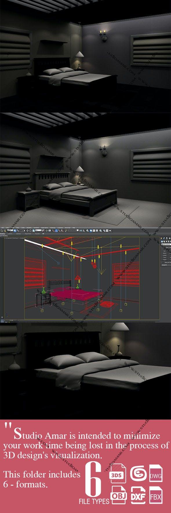 Realistic Bedroom design 183 - 3DOcean Item for Sale