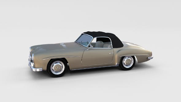 Mercedes 190SL with Interior Soft Top rev - 3DOcean Item for Sale