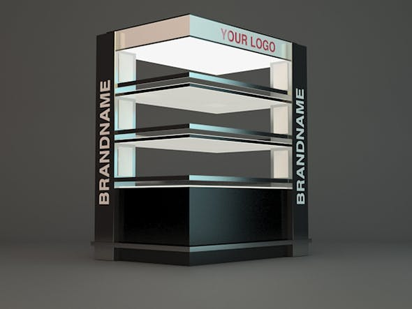 Promo shelve with lights for chocolate - 3DOcean Item for Sale