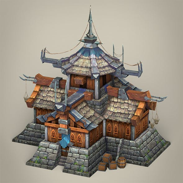 Game Ready Fantasy Medieval House - 3DOcean Item for Sale