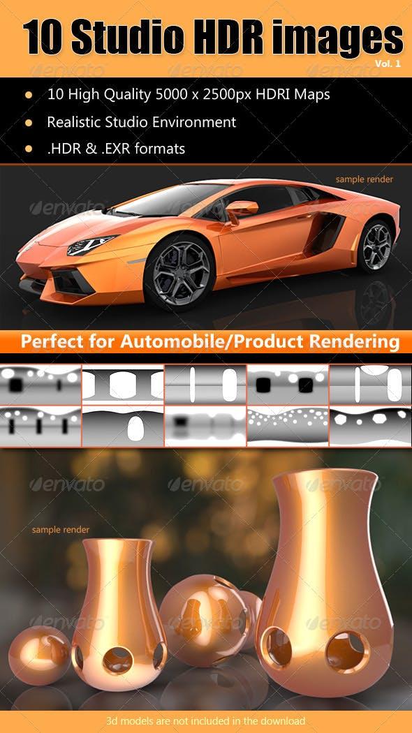 HDRi - Studio Lighting Images x10 - 3DOcean Item for Sale