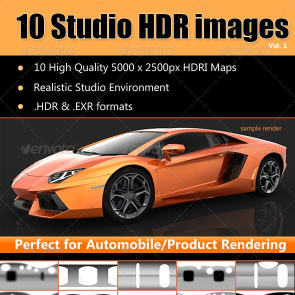 HDRi - Studio Lighting Images x10