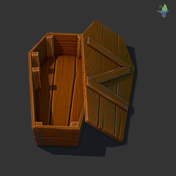 Game ready Coffin - 3DOcean Item for Sale