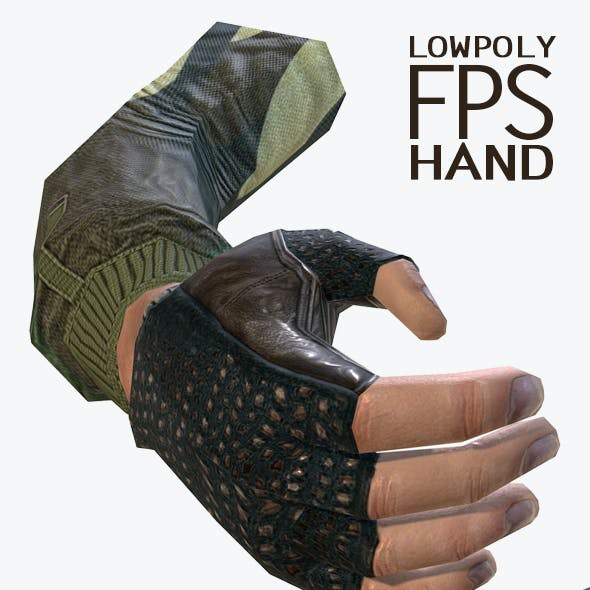 Lowpoly FPS Hand