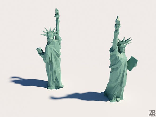Lowpoly Statue of Liberty