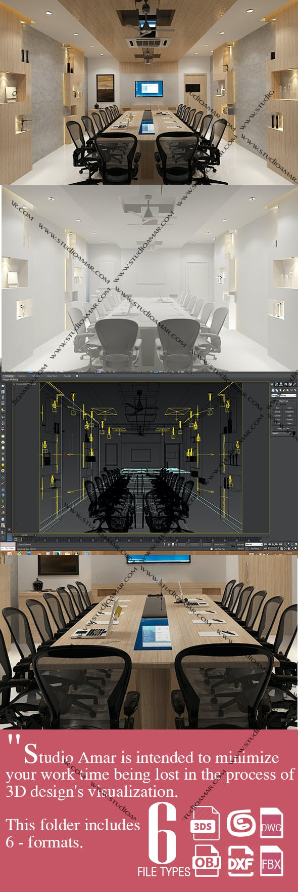 Realistic Conference room 207 - 3DOcean Item for Sale