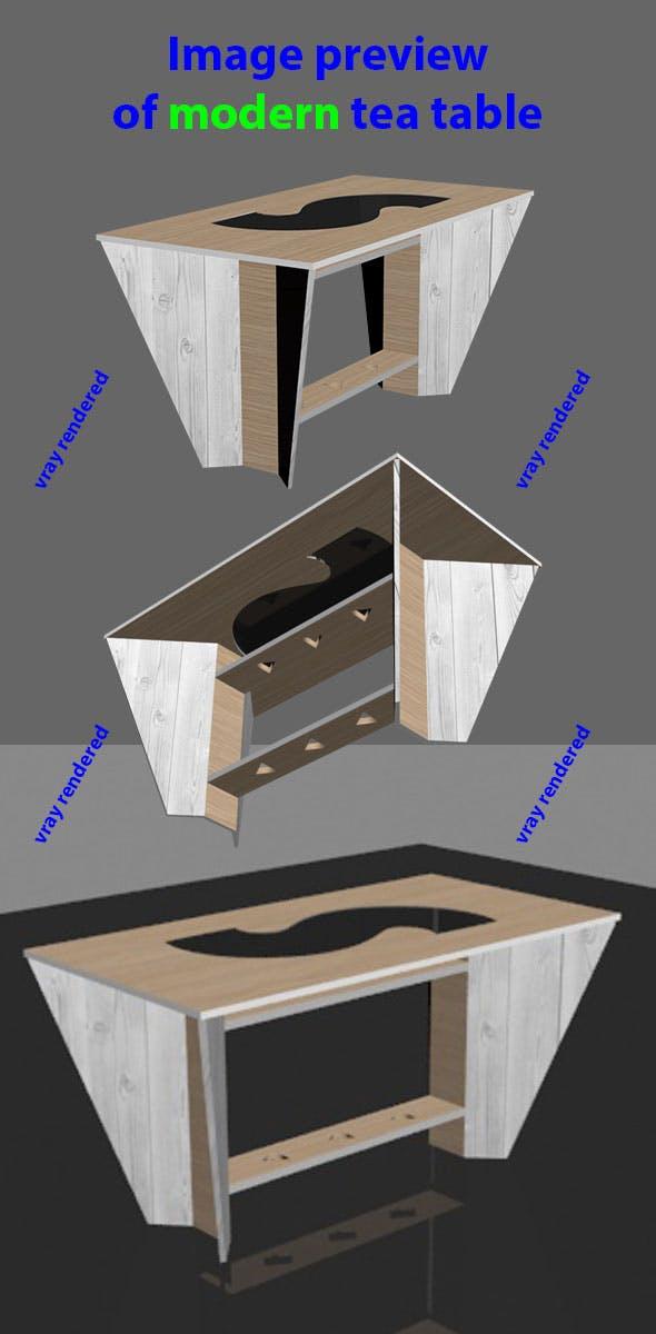 Tea table (unique) - 3DOcean Item for Sale