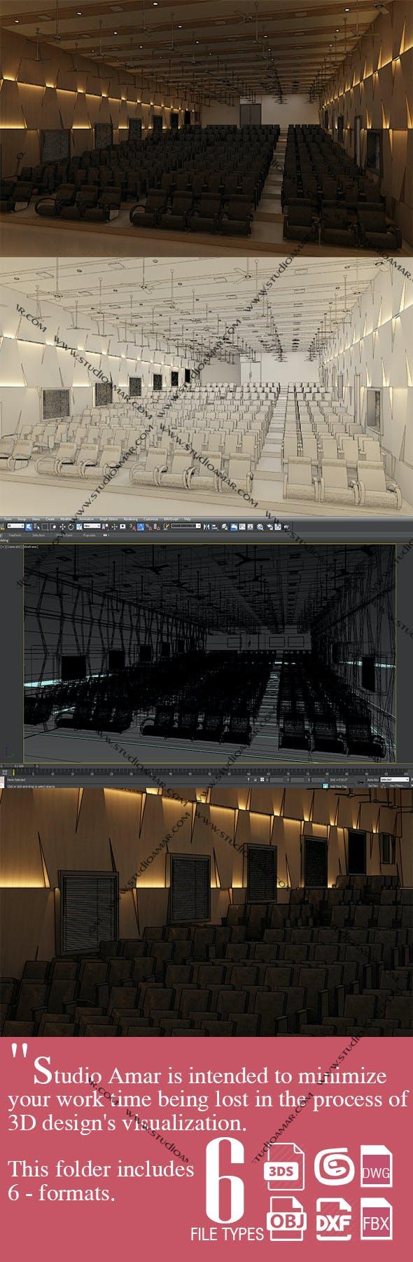 Classic Auditorium interior 210 - 3DOcean Item for Sale