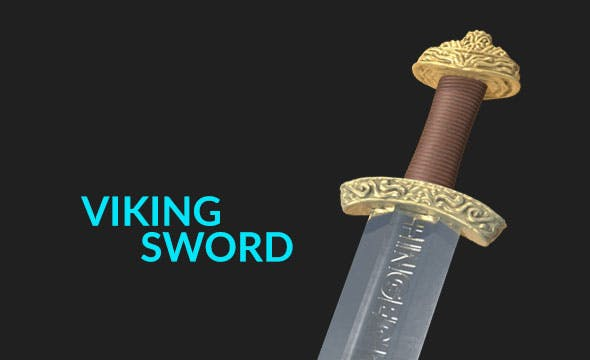 High Quality Viking Sword - 3DOcean Item for Sale