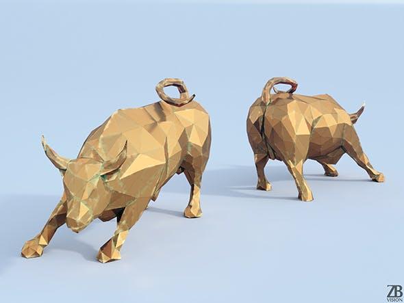 Lowpoly Charging Bull - 3DOcean Item for Sale