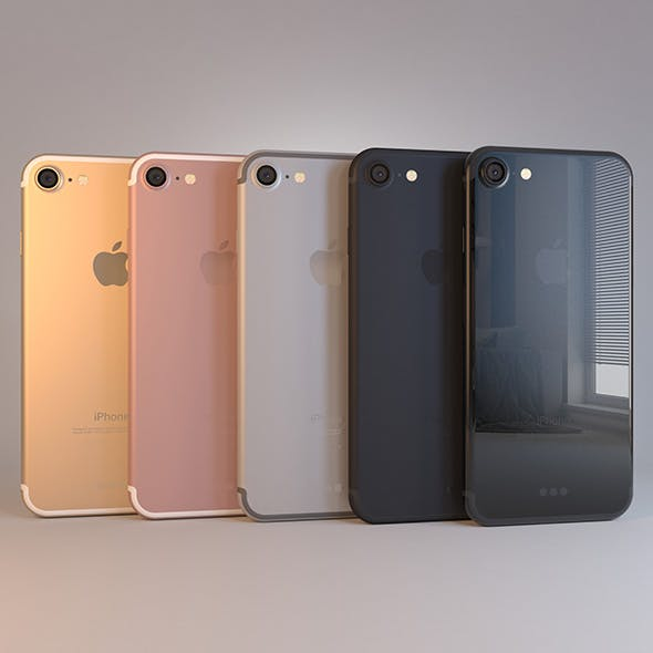 Apple iPhone 7 on Dock in All Colors