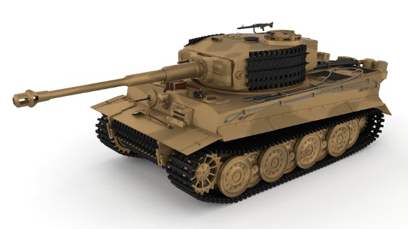 Panzer Tiger Tank Late 1944 v1 - 3DOcean Item for Sale