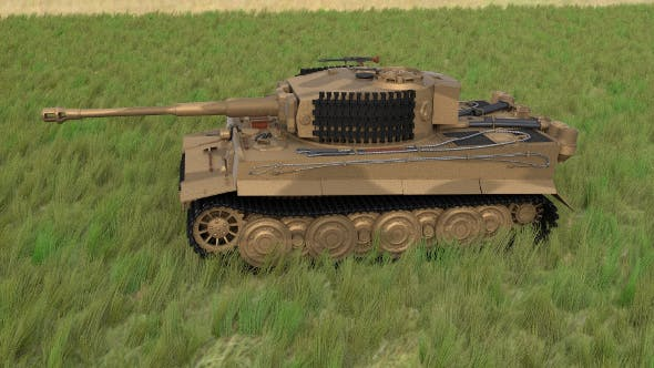 Panzer Tiger Tank Late 1944 HDRI v1 by dragosburian | 3DOcean