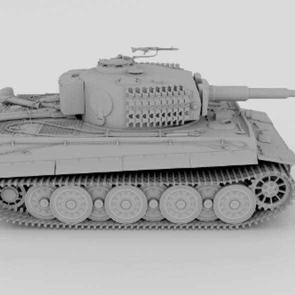 Panzer Tiger Tank Clay