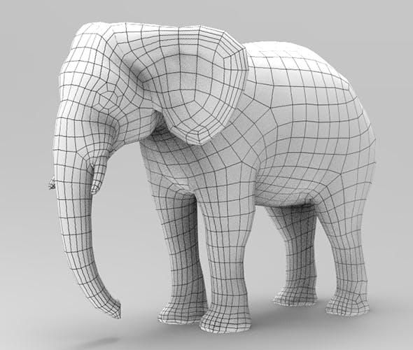 Asian elephant - 3DOcean Item for Sale