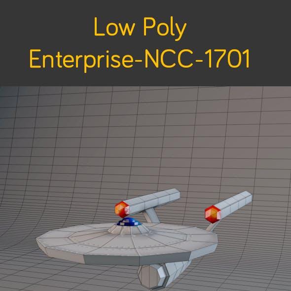 Low Poly Enterprise NCC 1701