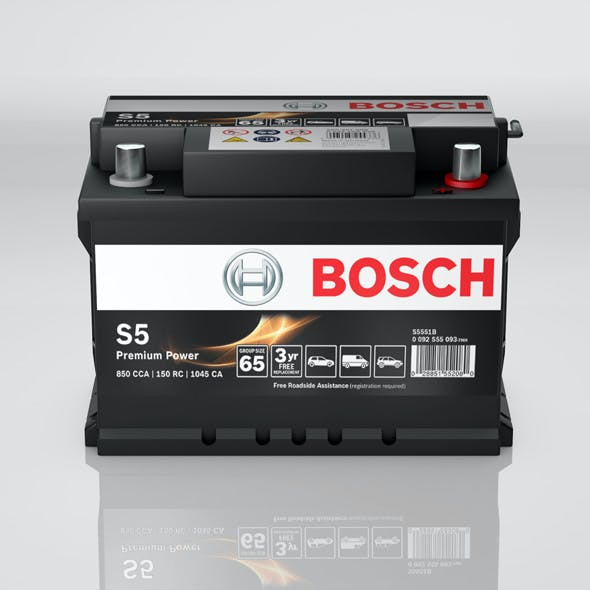 High detailed Bosch Auto Car Battery S5 Premium Power