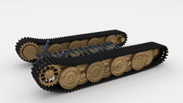 Tiger Tank Tracks and Suspension (Catepillar tracks) - 3DOcean Item for Sale