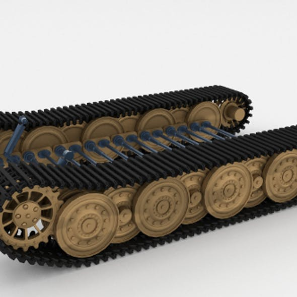Tiger Tank Tracks and Suspension (Catepillar tracks)