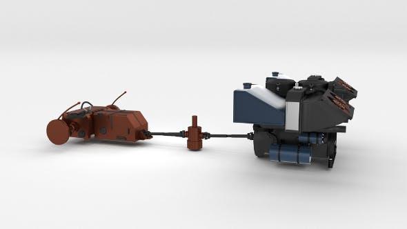 Panzer Tiger Engine and Transmission - 3DOcean Item for Sale